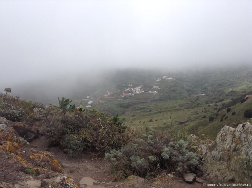 После Маски - национальный парк Тено. И снова вершины кутаются в облака...