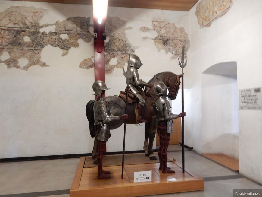 В замке интересный музей оружия.