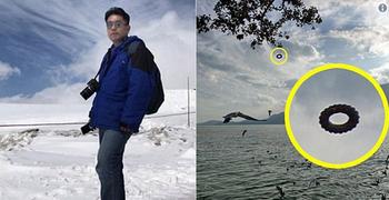 В Китае турист сфотографировал НЛО