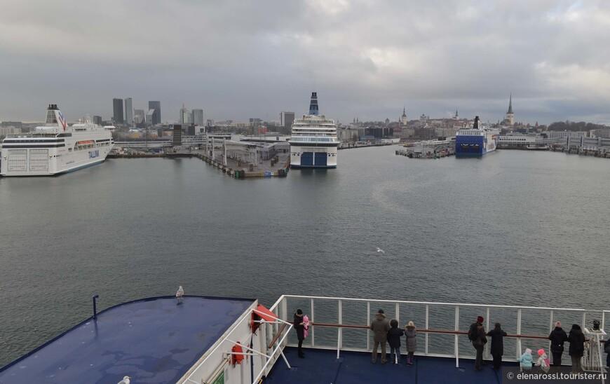 Жизнь в Таллинском порту просто кипит - лайнеры приходят, уходят. Они только кажутся неповоротливыми.