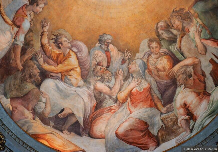 Фрески церкви Санта -Мария - делла - Анима