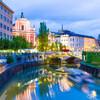 Вид с одного из мостов на реке Любляница