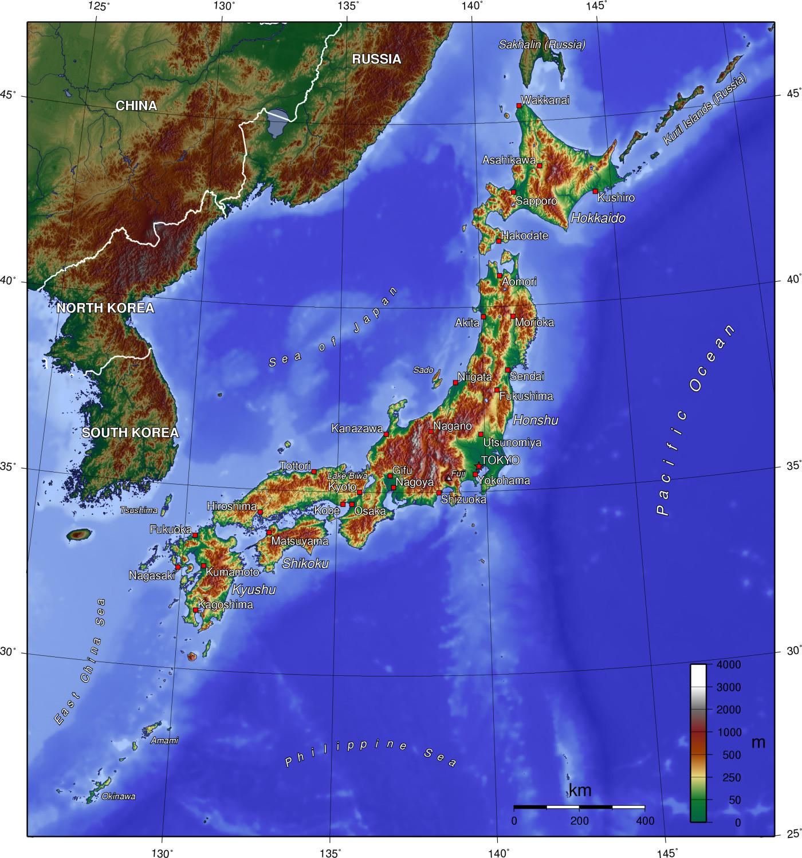 Karta Yaponii Podrobnaya Na Russkom Yazyke Stolica Yaponii Na Karte