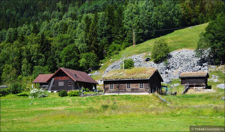 Ну и домики с крышами из тёрна тоже очень типичная картинка.
