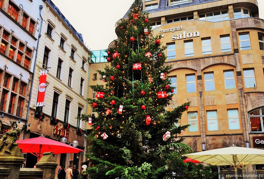 Похоже, что эта елка претендует на роль главной рождественской ели