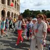 С группой, во время экскурсии по Риму.