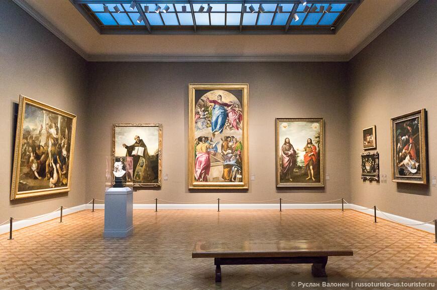 """В центре - """"Вознесение Богородицы"""", El Greco, 1577/79 гг. Любопытно, что Мария опирается на полумесяц - типичный атрибут Дианы / Артемиды."""