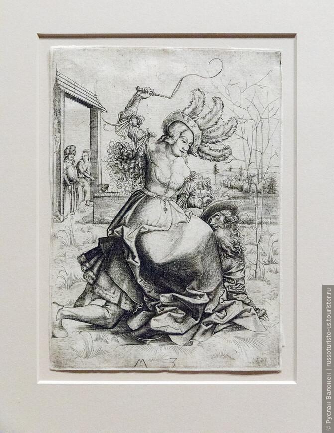 Апокрифическая история о Филлис и Аристотеле. Художник, известный как Master M.Z., около 1500 г.
