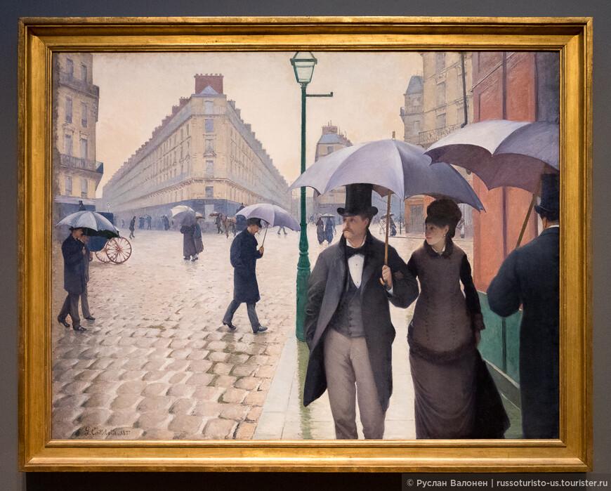 В работе отражён интерес художника к фотографии и виртуозное владение перспективой.