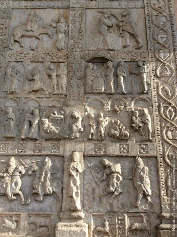 Приглядитесь к этим сценам из жития Христова на храме Св. Зенона в Вероне.