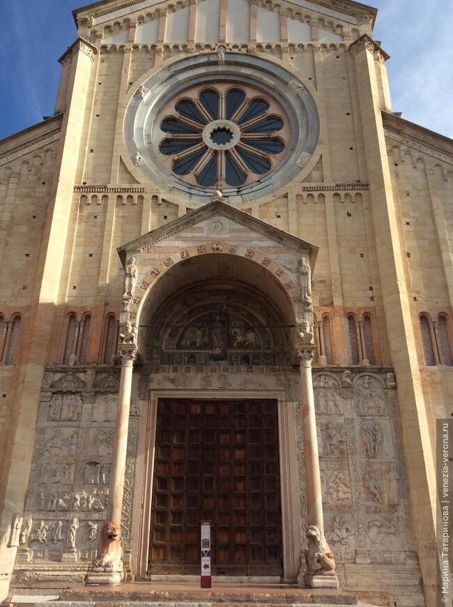 И вот картинки соединились и превратились в красивейший фасад храма в Вероне.