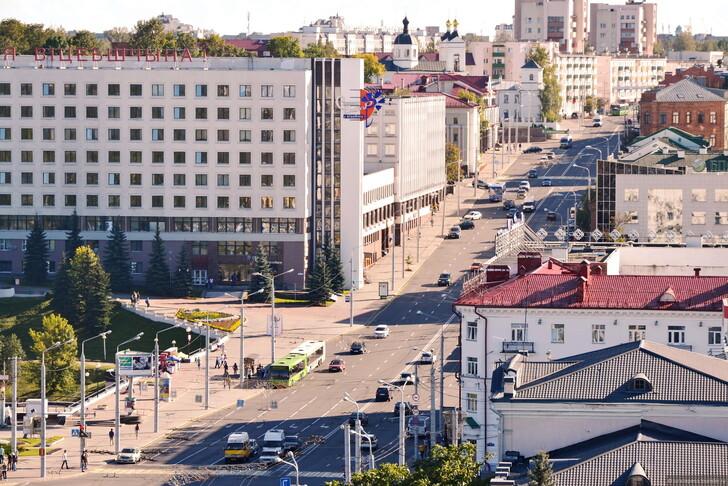 Витебск, главная магистраль города © Юра Лепеса
