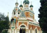 Русская церковь в Ницце, мы с лева))