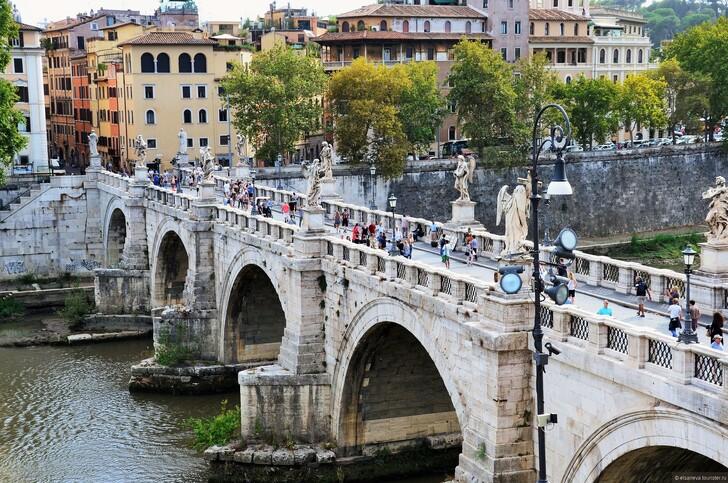 Мост Святого Ангела, Рим © Елена Сариева