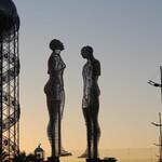 Скульптура в Батуми «Али и Нино»
