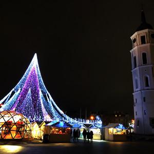 Зимний Вильнюс и немного Новогоднего
