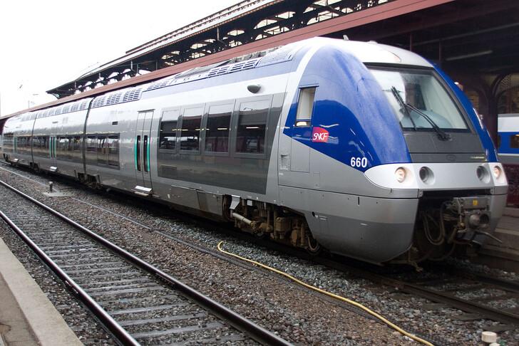 Поезд SNCF TER на вокзале Страсбурга (Gare de Strasbourg-Ville). Фото: © Poudou99