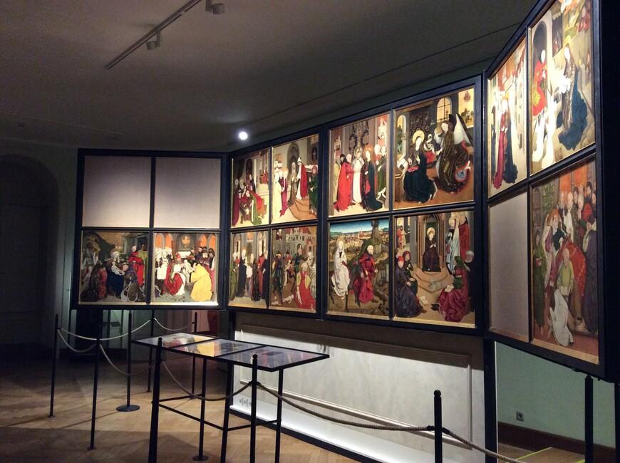 Вид алтаря шотландского монастыря в музее монастыря, с. 1470. Фото: Юлия Абрамова, январь 2018