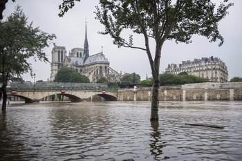 В Париже снижается уровень воды в Сене
