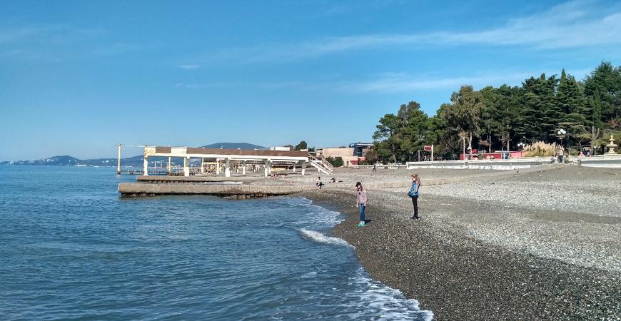 Пляж санатория «Южное взморье»
