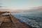 Бетонный пляж на набережной Терешковой