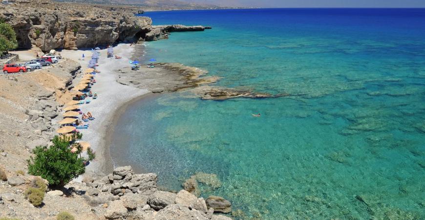 Нудистский пляж Филаки на Крите