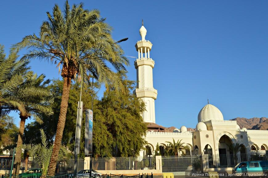 Мечеть Шариф Hussein Bin Ali. Мечеть расположена на главном проспекте Акабы, возле Кольца Хайа. Сравнительно небольшие размеры одной из центральных мечетей города объясняются высокой сейсмической опасностью региона, в котором находится Акаба.