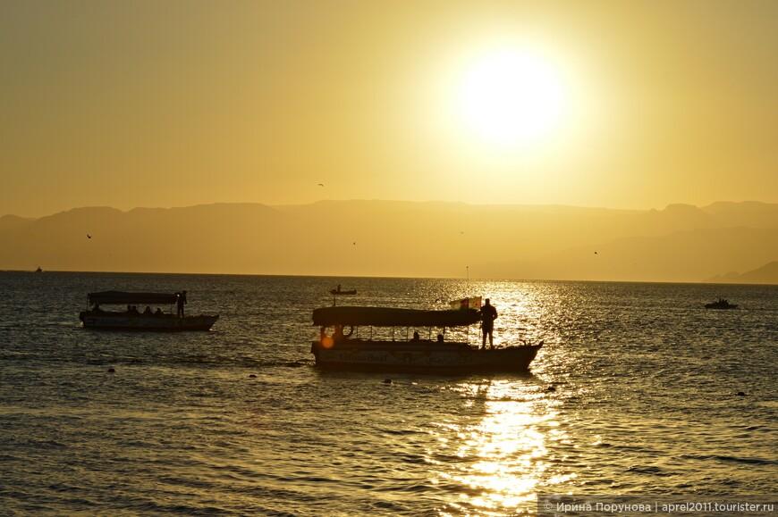 Закат над Акабским заливом