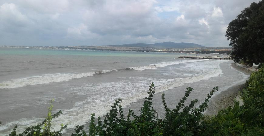 Пляж пансионата «Кавказ»