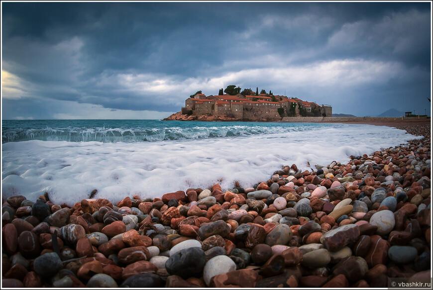 Пляж Свети Стефан.