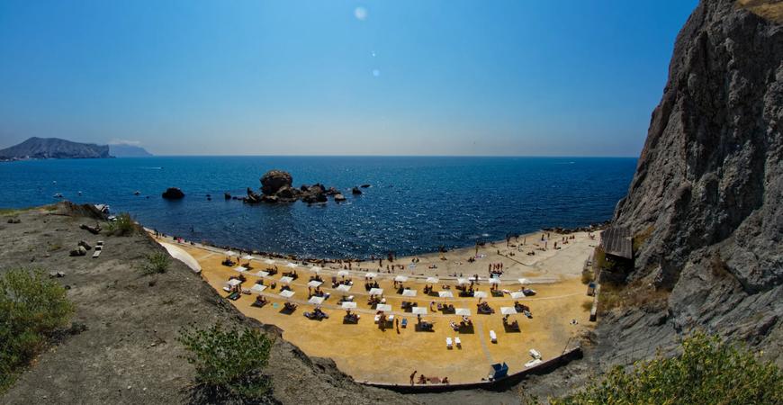 Пляж «Мохито» в Судаке