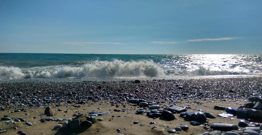 Пляж «Дельфин» в Лазаревском