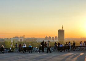Видиковац (смотровая площадка) в парке Калемегдан. Здесь Белград каждый вечер прощается с солнцем.