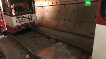 В Германии столкнулись два поезда метро, 35 пострадавших