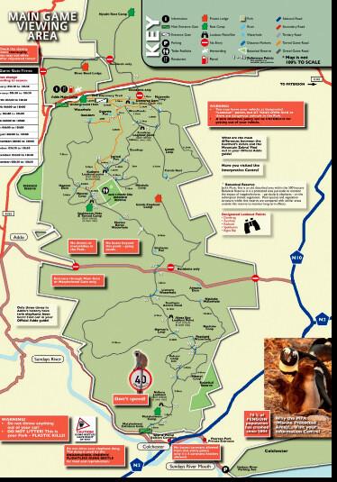 Карта-схема Национального Парка Аддо Элефант