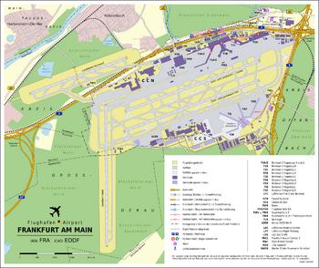 Карта аэропорта Франкфурта-на-Майне