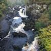 Вид на водопады Роги с подвесного моста