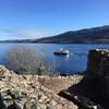 Вид на озеро Лох-Несс с руин замка Уркхарт