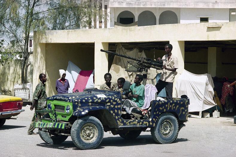 Техничка (от англ. technical) - одно из самых распространенных мотострелковых типов вооружения в современных конфликтах в Африке и на Ближнем Востоке Фото: bbc.co.uk