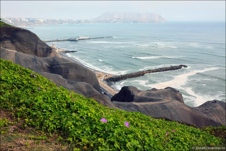 Но самое красивое здесь  это виды на обрывистые берега и океан.