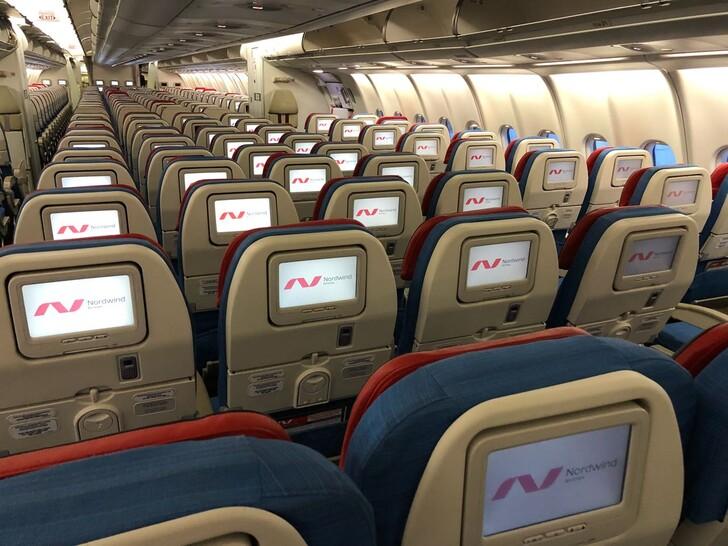 Салон эконом-класса у Nordwind Airlines © nordwindairlines.ru