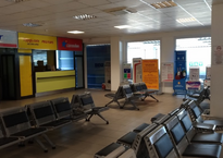 Зал ожидания в аэропорту Газипаша