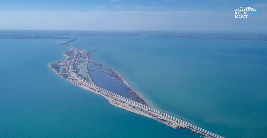 Где строят мост через Керченский пролив - карта