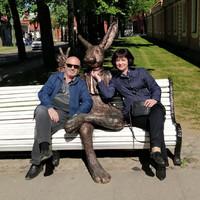 В Петропавловской крепости с зайцем