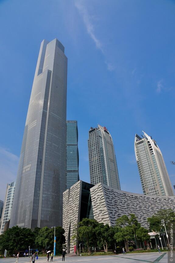 Новый небоскреб Chow Tai Fook Centre также известный как The CTF Guangzhou или Восточная башня Гуанчжоу.