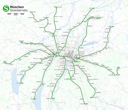 Схема s-bahn в мюнхене