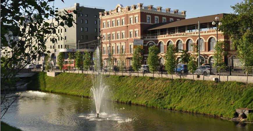 Фонтаны на реке Булак