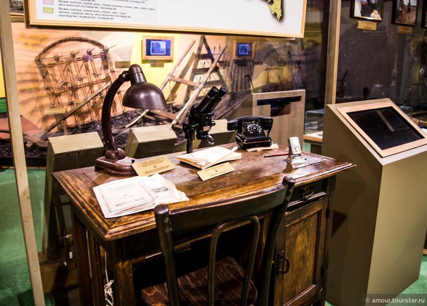 А это экспозиция небольшого музея хлеба, где можно узнать, как раньше выращивали крестьяне хлеб. И как им в помощь пришла наука.