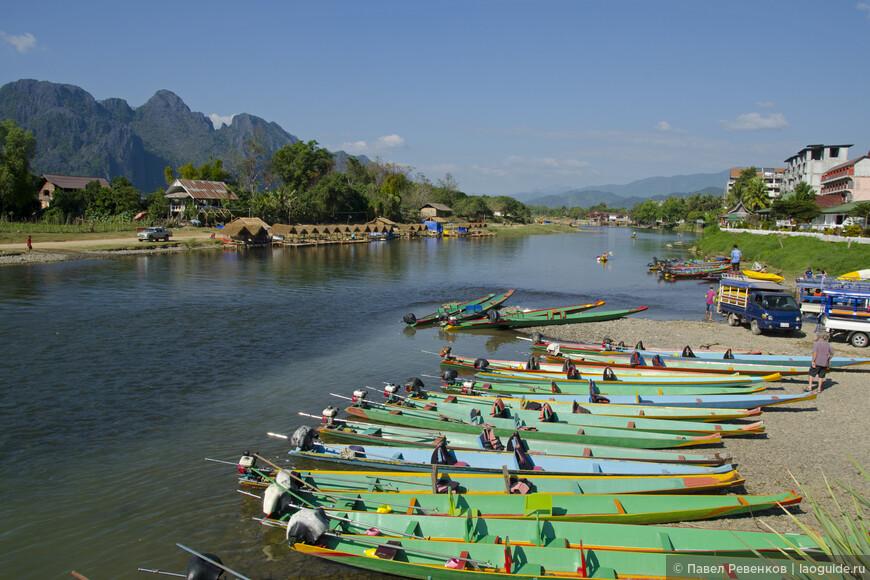 Место старта моторных лодок рядом с отелем Villa Nam Song.