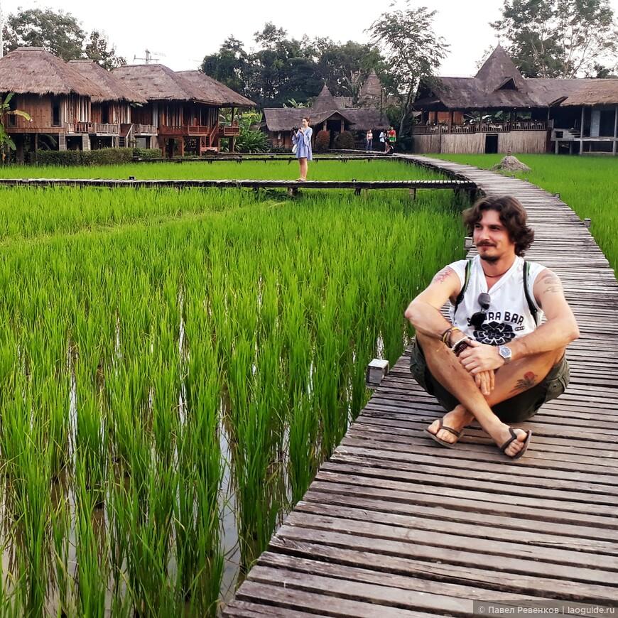 Территория отеля Vieng Tara Villa